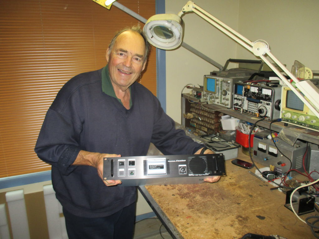 John VK2AAL At work bench with  C4FM